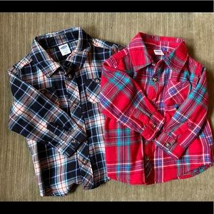 Pair of button down shirts